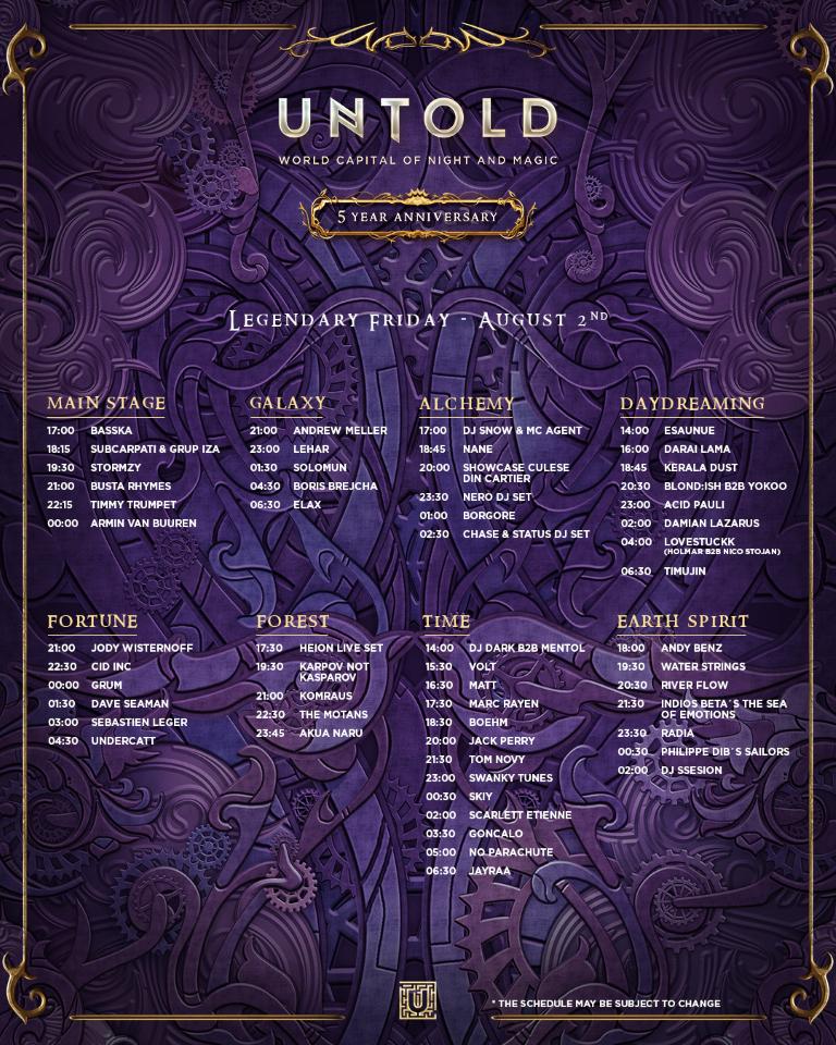 programul final Untold 2019