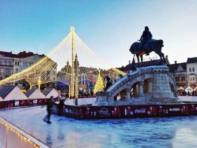 lorandpleiner Patinoar Cluj Piața Unirii